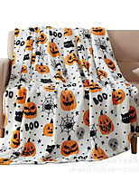 cheap -Elegant Comfort Luxury Velvet Super Soft Halloween Pumpkin Blanket-Holiday Theme Home Décor Fuzzy Warm and Cozy Throws for Winter Bedding, Couch and Gift