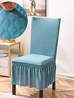 cheap -Stretch Kitchen Chair Cover Slipcover Bubble Lattice for Dinning Party Blue With Skirt Soft Comfortable Firm Elegant Chairs Covers