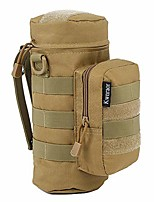 cheap -molle water bottle holder, tactical water bottle pouch military sports kettle pouch for outdoor travel cycling with d-ring hook (khaki)