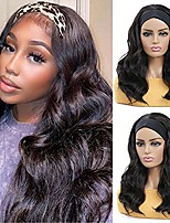 cheap -Headband Wigs for Black Women - Synthetic Headband Wig Glueless Half Wig 180% Density Wigs with Headbands Attached Natural for Daily Use (20 Inch, Dark Brown)