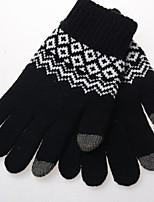 cheap -Men's 1 Pair Outdoor Fingertips Gloves - Color Block Knitting