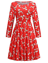 cheap -Santa Suit Dress Masquerade Christmas Dress Adults' Women's Vintage Christmas Christmas New Year Christmas Carnival Festival / Holiday Spandex Terylene Red Women's Easy Carnival Costumes Reindeer