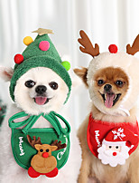 cheap -Dog Christmas Bandana Santa Hat Dog Scarf Triangle Bibs Kerchief Christmas Costume Outfit for Small Medium Large Dogs Cats Pets