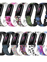 cheap -Smart Watch Band for Fitbit Printed Bracelet Silicone Replacement  Wrist Strap for Fitbit Luxe