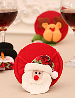 cheap -christmas home decorations, wine coaster, christmas wine glass foot cover, table decoration