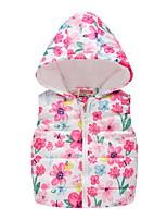 cheap -Kids Unisex Coat Long Sleeve Multicolor Blue Blushing Pink Cartoon Zipper Active Cool 2-8 Years / Fall / Winter