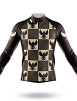 cheap -21Grams Men's Long Sleeve Cycling Jersey Spandex Polyester Black 3D Bird Funny Bike Top Mountain Bike MTB Road Bike Cycling Quick Dry Moisture Wicking Breathable Sports Clothing Apparel / Stretchy