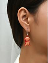 cheap -Women's Earrings Classic Dinosaur Cartoon Earrings Jewelry Dark Fuchsia For Street Carnival Festival 2pcs