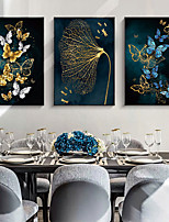cheap -Wall Art Canvas Prints Painting Artwork Picture Abstract Butterfly Gold Home Decoration Dcor Rolled Canvas No Frame Unframed Unstretched