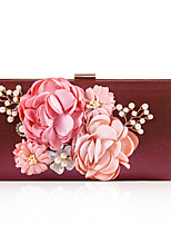 cheap -Women's Bags Polyester Alloy Evening Bag Flower Floral Print Party / Evening Daily Evening Bag Purple Dark Red Fuchsia Green