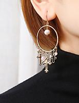 cheap -Women's Hoop Earrings Geometrical Happy Stylish Simple Earrings Jewelry Gold For Daily Prom