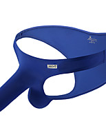 cheap -Men's Basic Simple Pure Color Sexy Panties Briefs Underwear Micro-elastic Low Waist Blue M / Fashion