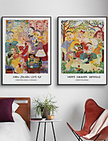 cheap -Wall Art Canvas Prints Painting Artwork Picture People Retro Home Decoration Dcor Rolled Canvas No Frame Unframed Unstretched