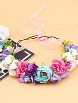 cheap -1 Piece Baby Photo Wreath Headgear Children's Headband Seaside Holiday Head Flower