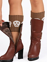 cheap -Fashion Comfort Women's Socks Multi Color Socks Casual Socks Warm Halloween Blue 1 Pair / Leg Warmers