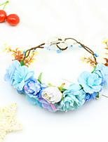 cheap -1 Piece Spring And Summer Children's Wreath Headdress Seaside Vacation Photo Headband Bohemian Starry Sky Small Fresh Headband