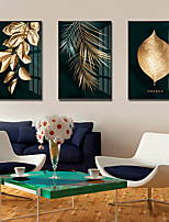 cheap -Wall Art Canvas Prints Painting Artwork Picture Floral Botanical Gold Home Decoration Dcor Rolled Canvas No Frame Unframed Unstretched