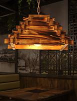cheap -LED Pendant Light 40 cm Island Design Pendant Light Wood / Bamboo Vintage Style Vintage Country 220-240V