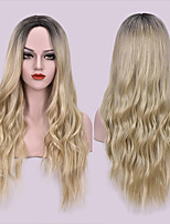 cheap -Synthetic Wig Water Wave Neat Bang Wig Long A1 A2 A3 A4 Synthetic Hair Women's Cosplay Soft Party Brown Blonde