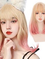 cheap -Synthetic Wig Wavy Loose Curl Neat Bang Wig Long A1 A2 A3 A4 A5 Synthetic Hair Women's Soft Party Fashion Mixed Color