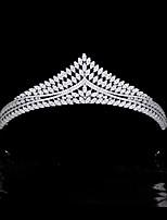 cheap -High-end Hair Accessories Wedding Accessories Bride Wedding Zircon Crown Wedding Headdress Model Wedding Accessories