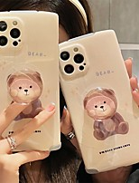 cheap -Phone Case For Apple Back Cover iPhone 12 Pro Max 11 X XR XS Max iphone 7Plus / 8Plus Shockproof Dustproof with Stand Cartoon PC