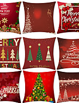 cheap -Christmas Party Double Side Cushion Cover 9PC Soft Decorative Square Throw Pillow Cover Cushion Case Pillowcase for Bedroom Livingroom Superior Quality Machine Washable Indoor Cushion for Sofa Couch Bed Chair