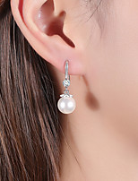 cheap -Women's Cubic Zirconia Drop Earrings Earrings Classic Ball Simple Fashion Imitation Pearl Earrings Jewelry Silver For Party Daily Stage Work 1 Pair