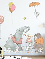 cheap -cartoon home decoration elephant bear eat cake children bedroom beautification decoration wall stickers