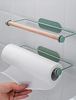 cheap -Kitchen Paper Towel Rack Wrought Iron Wall-mounted Oil-absorbing Cling Film Free Perforated Rag Roll Storage Frame Accessories Holder