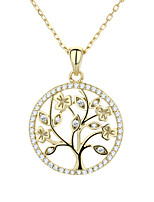 cheap -Pendant Necklace Women's Geometrical Clear S925 Sterling Silver Dainty Luminous Wedding Silver Gold White 21-50 cm Necklace Jewelry 1pc for Wedding Geometric