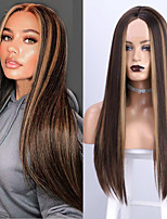 cheap -Synthetic Wig kinky Straight Layered Haircut Wig Long Light Brown Wine Red Black Synthetic Hair Women's Soft Party Fashion Black Burgundy Light Brown
