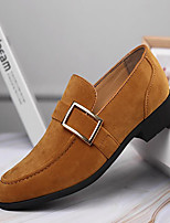 cheap -Men's Loafers & Slip-Ons Retro Formal Shoes British Style Plaid Shoes Business Vintage Classic Wedding Office & Career PU Waterproof Non-slipping Height-increasing Yellow Black Coffee Fall