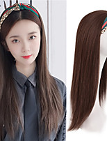 cheap -Synthetic Wig Natural Straight With Headband Wig Long A1 A2 A3 A4 A5 Synthetic Hair Women's Cosplay Soft Party Brown