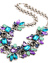 cheap -MISSING U Women's Choker Necklace Collar Necklace Geometrical Precious Fashion Lovely Wedding Rainbow 51 cm Necklace Jewelry 1pc for Christmas Wedding Halloween Gift Festival Geometric