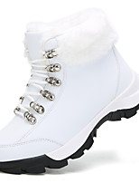 cheap -Women's Boots Flat Heel Round Toe Booties Ankle Boots Daily Outdoor PU Solid Colored White Black / Booties / Ankle Boots