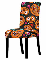 cheap -1 Pc Halloween Chair Covers for Dining Room, Halloween Printed Super Fit Stretch Removable Washable Chair Slipcover