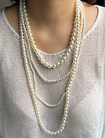 cheap -Beaded Necklace Necklace Women's Beads Boho White 80 cm Necklace Jewelry 1pc for Festival irregular