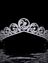 cheap -Princess Charlene Ocean Headdress Crown Bride Wedding Hair Accessories Zircon Crown Wedding Jewelry
