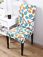 cheap -Kitchen Chair Cover Geometric Yarn Dyed Polyester Slipcovers