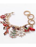 cheap -Women's Pendant Bracelet Classic Christmas Tree Stylish Alloy Bracelet Jewelry Rainbow For Christmas Gift