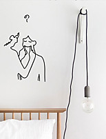 cheap -smiling couple sweet pet ins wall sticker creative personality pattern bedroom dormitory background decoration sticker fx1323