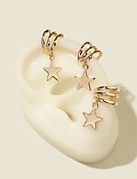 cheap -Women's Clip on Earring Chandelier Star Crown Elegant Fashion Vintage Modern French Earrings Jewelry Gold For Party Gift Daily Prom Club 3pcs