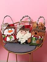 cheap -Fashionable Canvas Shoulder storage Bag Christmas gym reusable portable grocery shopping cloth book tote 45*22cm
