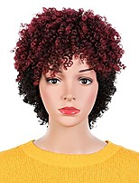 cheap -short dreadlock wigs for black women short braided wigs synthetic fiber hair wigs for women black with dark red color