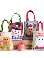 cheap -Fashionable Canvas Shoulder storage Bag Christmas gym reusable portable grocery shopping cloth book tote 33*17cm