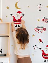 cheap -Christmas Kids Room Decoration Stickers Waterproof Cartoon Santa Claus Self-adhesive Dyi Wall Stickers