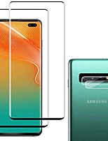 cheap -[2+2 pack] galaxy s10 plus screen protector include 2 pack tempered glass screen protector + 2 pack tempered glass camera lens protector,9h hardness,easy install,hd transparent for galaxy s10 plus