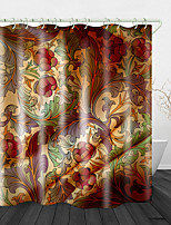 cheap -Vintage Flowers Printed Waterproof Fabric Shower Curtain Bathroom Home Decoration Covered Bathtub Curtain Lining Including hooks.