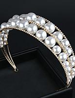 cheap -Pearl Sweet Hair Hoop Jewelry Wedding Bridal Accessories Bridal Headdress Sen Xianmei Children's Hair Accessories